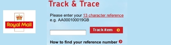 Royal Mail Track & Trace
